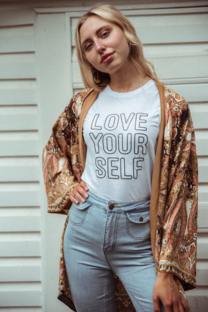 Load image into Gallery viewer, LOVE YOURSELF Tee, Love Yourself Tshirt, Love Tee, Love Yourself Shirt, Love Yourself Tshirts, Self Love Tee