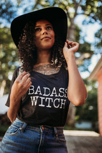 BADASS WITCH Tshirt, Badass Witch, Halloween Tshirts, Witch Tees, Witchy Shirts, Witch Shirts, Witch Tees