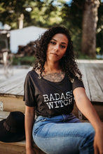 Load image into Gallery viewer, BADASS WITCH Tshirt, Badass Witch, Halloween Tshirts, Witch Tees, Witchy Shirts, Witch Shirts, Witch Tees