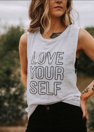 Load image into Gallery viewer, Love Yourself - Muscle Tank