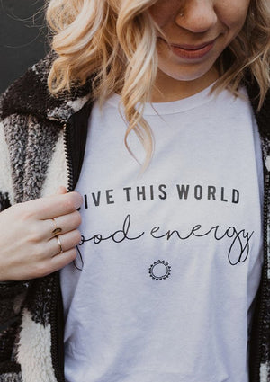 Give This World Good Energy - Boyfriend Tee