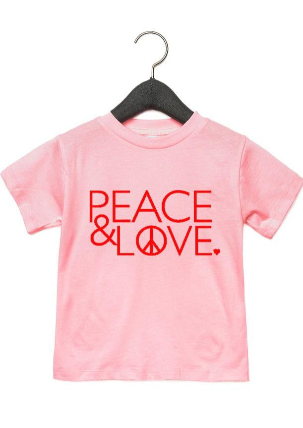 Load image into Gallery viewer, Peace & Love - Kid's + Toddler Tees
