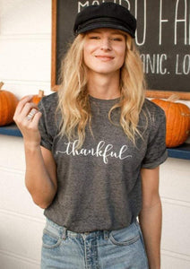 THANKFUL Acid Wash Tee