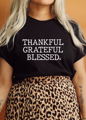 Thankful Grateful Blessed - Boyfriend Tee