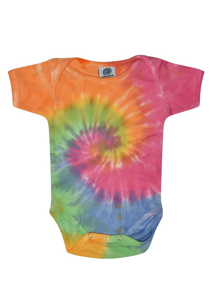 Load image into Gallery viewer, Baby Rainbow Tie Dye Onesies