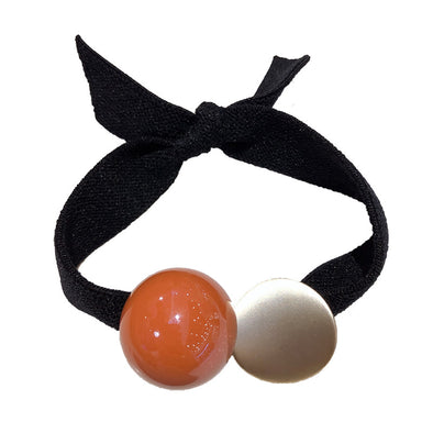 Jemond Simple Rubber Candy Color Beads Scrunchie