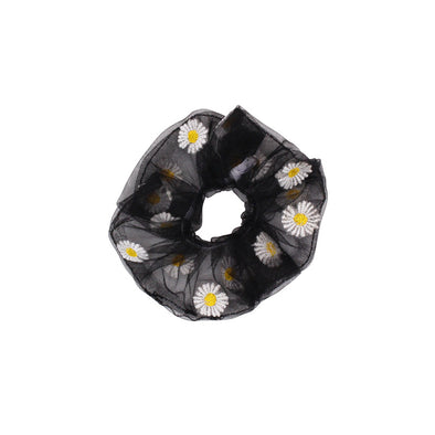 Jemond Yarn Little Daisies Scrunchies For Hair