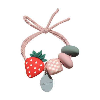 Jemond Cute Girl Fruit Colorful Beads Hair Rope