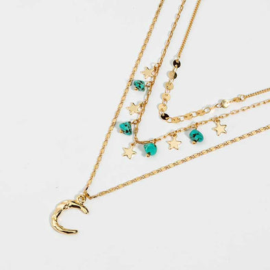 Jemond Natural Turquoise Multilayer Necklace
