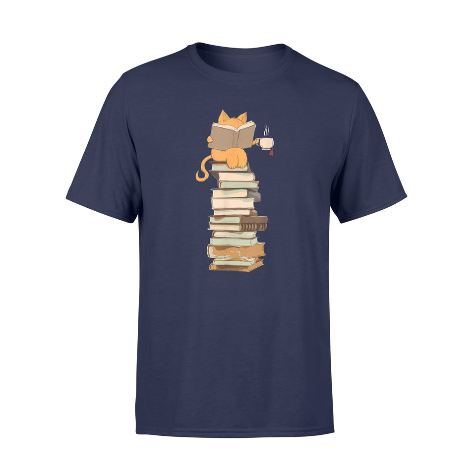 Book T-Shirt Kittens, Cats, tea and books gift Shirt - Standard T-shirt