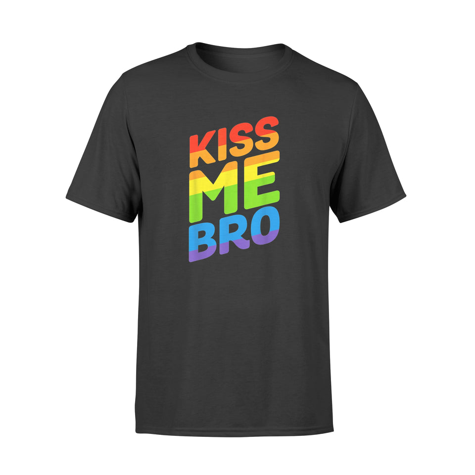 Gay Pride Lgbt Pride Tshirts Kiss Me Bro Tshirt for Rainbow Pride Gay - Standard T-shirt
