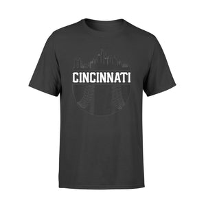 Cincinnati Baseball Skyline Ohio Retro Red Gift - Standard T-shirt