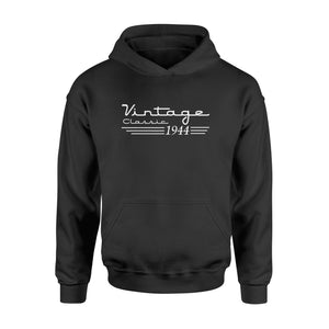 75th Birthday T Shirt Vintage Retro 1944 Birthday - Standard Hoodie