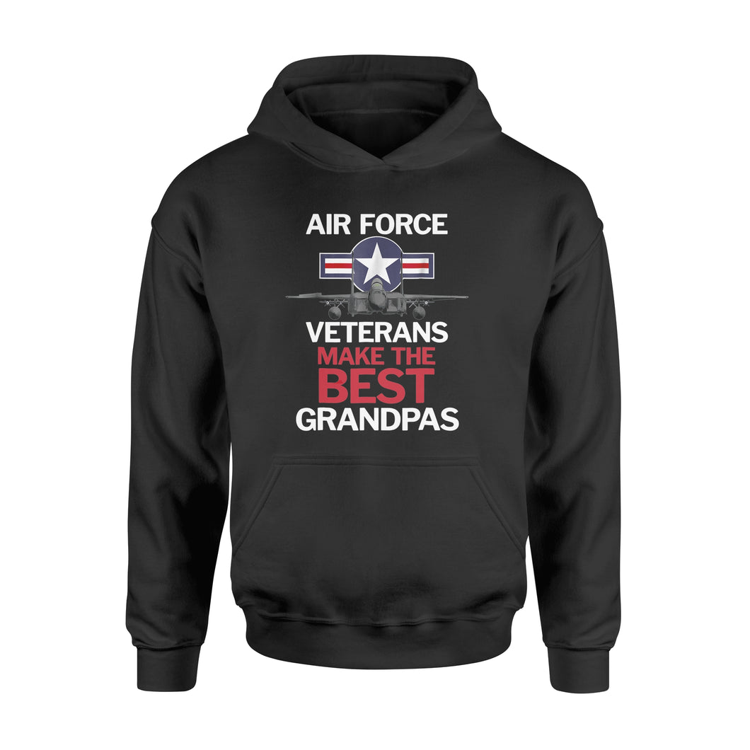 Father's Day Air Force Veterans Make the Best Grandpas T-Shirt - Standard Hoodie