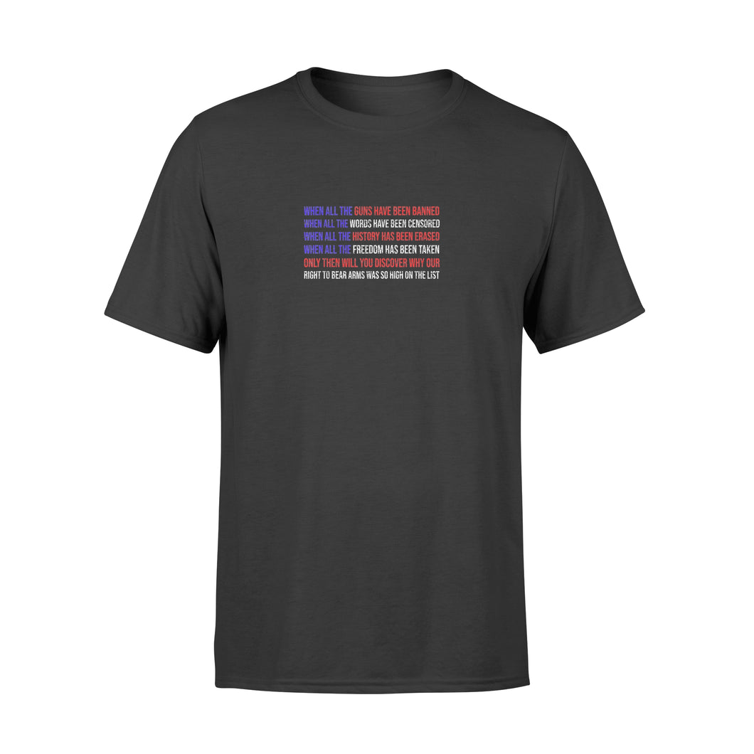 When All The Guns Have Been Banned Trump 2020 - Standard T-shirt