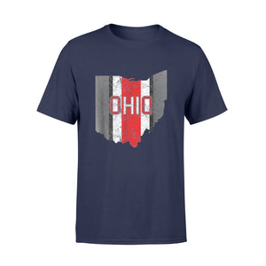 State of Ohio Shirts State of Ohio Pride Striped T-Shirt - Standard T-shirt