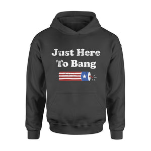 4th of July Gift Idea - Just Here To Bang Funny Fireworks - Standard Hoodie