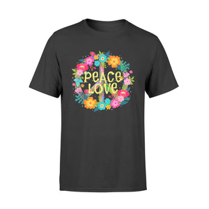 Peace Love Shirt Hippie Costume Tie Die 60s 70s - Standard T-shirt