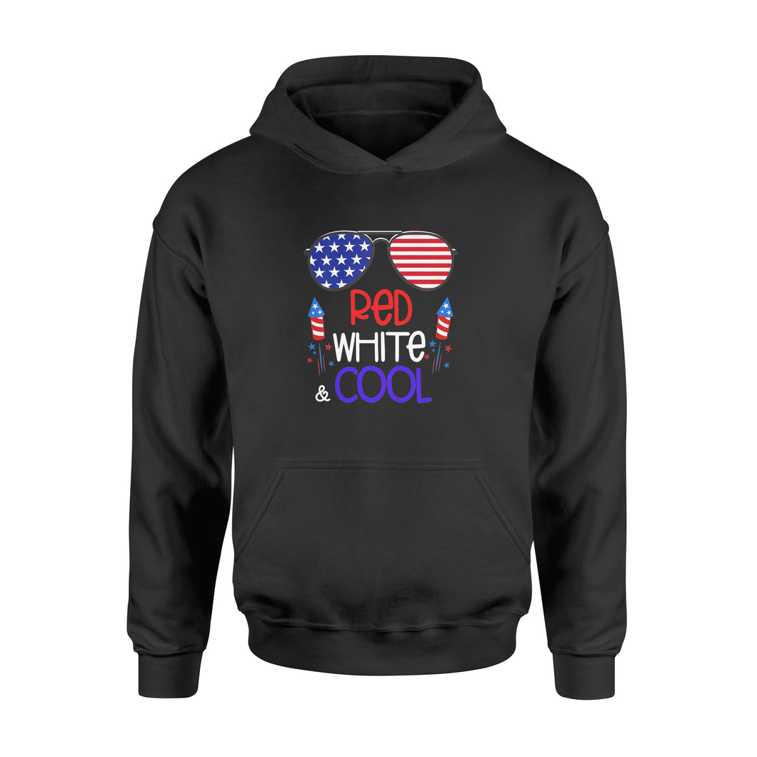 4th Of July Red White And Cool Patriotic Stars Stripes - Standard Hoodie