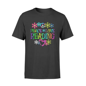 Book Shirt Peace Love Reading Books - Standard T-shirt