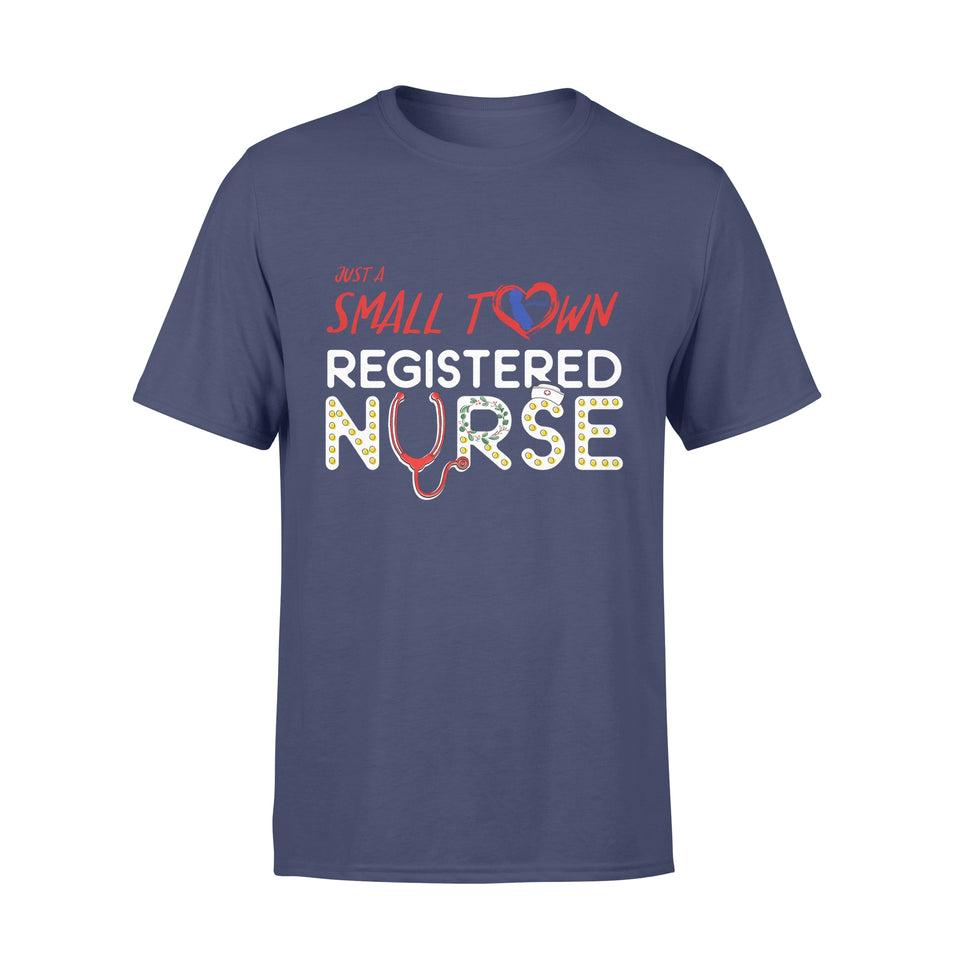 Personalize Custom T-Shirt Nurse Christmas gift idea Just A Small Town Nurse - Standard T-shirt