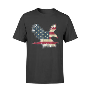 United States Of America Usa Flag Flying Eagle - Standard T-shirt