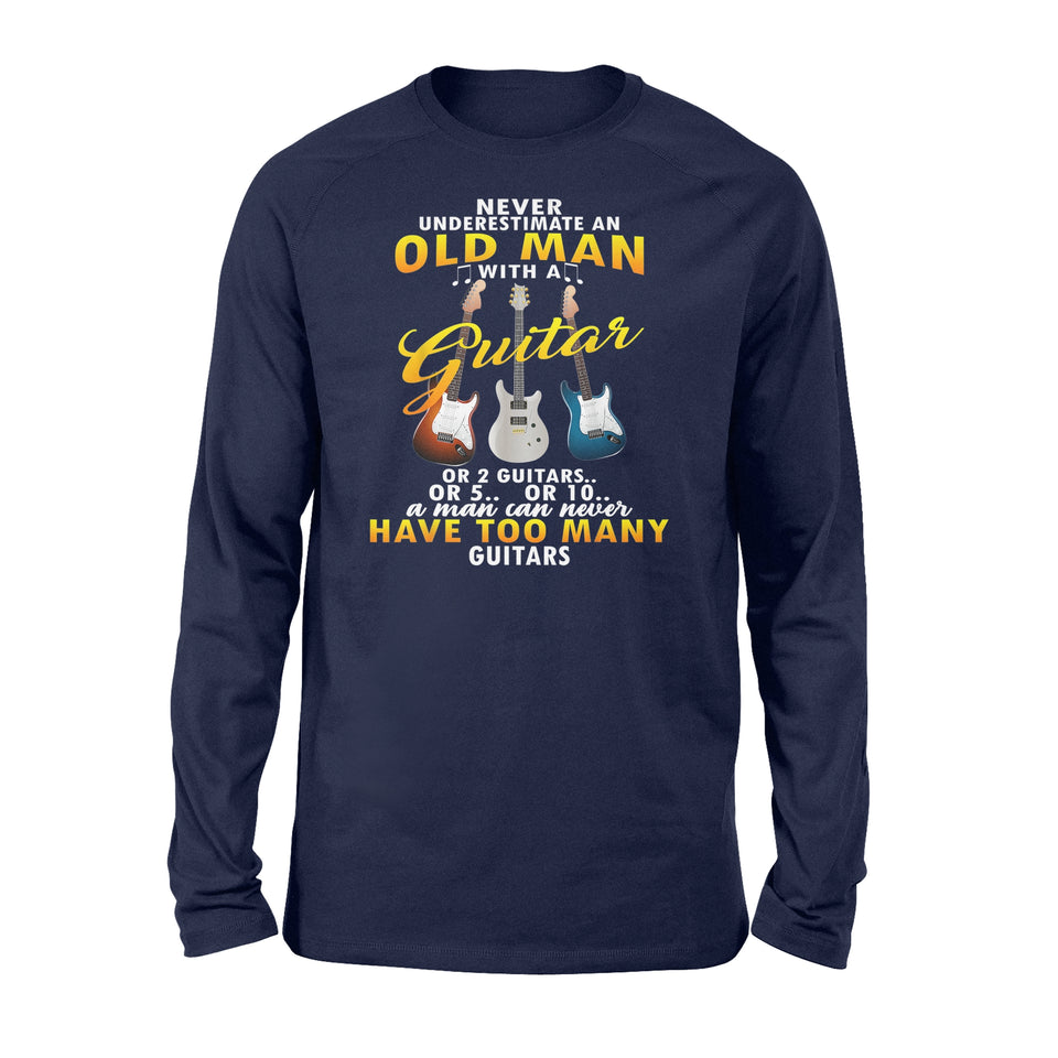Never Underestimate An Old Man With A Guitar - Standard Long Sleeve