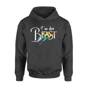 Lgbt Gift Idea - I'm Her Beast, Couples Shirts For Lesbians - Standard Hoodie