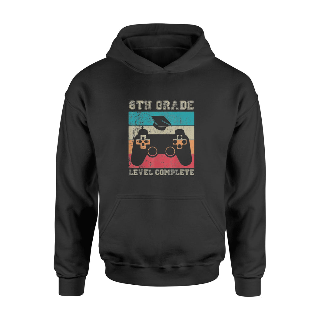 Video Gamer 8th Grade Graduation Shirt Level Complete - Standard Hoodie