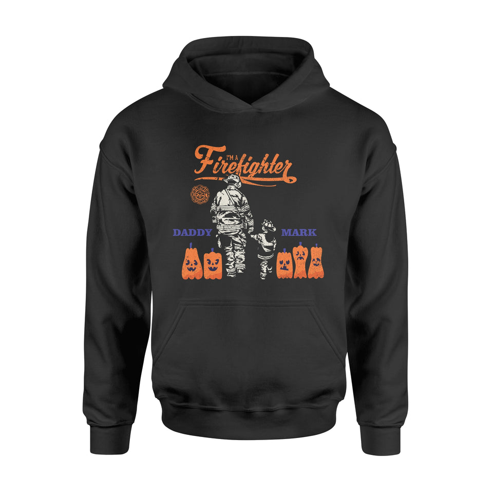 Personnalized Fireman Halloween Gift Idea I Am Firefighter - Standard Hoodie