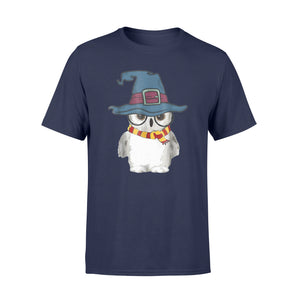 Funny Cute Owl Magical Wizard Hat - Standard T-shirt