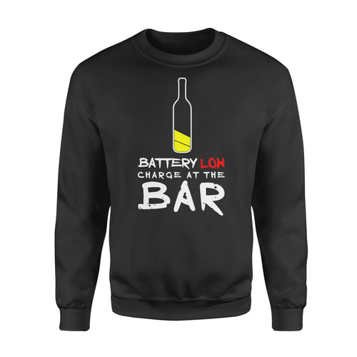 Funny Gift Idea Funny Beer Drinking Charge At The Bar Alcohol Shirt For Men - Standard Fleece Sweatshirt