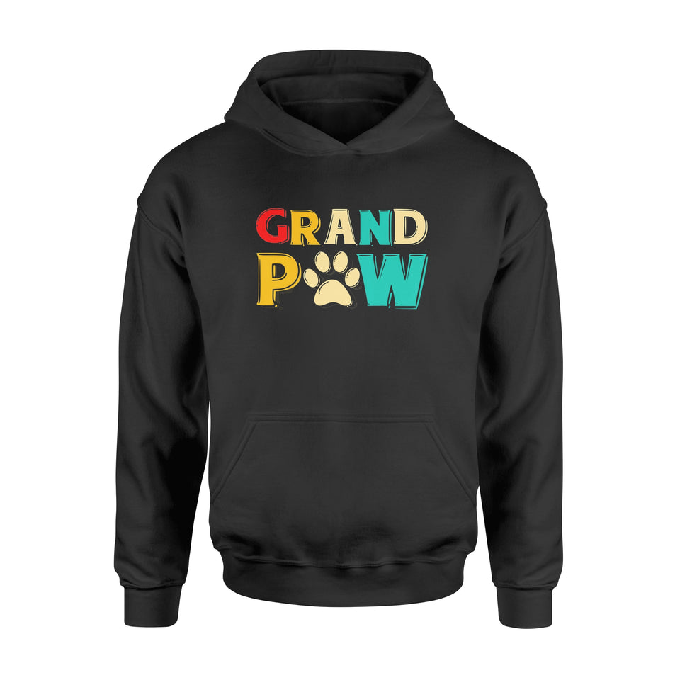 Grand Paw Dog TShirt Grandpaw Grandpa Dog Lover - Standard Hoodie