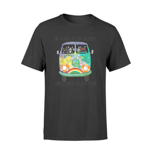 In Hair On Dark Highway A Desert Cat Cool Wind Hippie Dog - Standard T-shirt