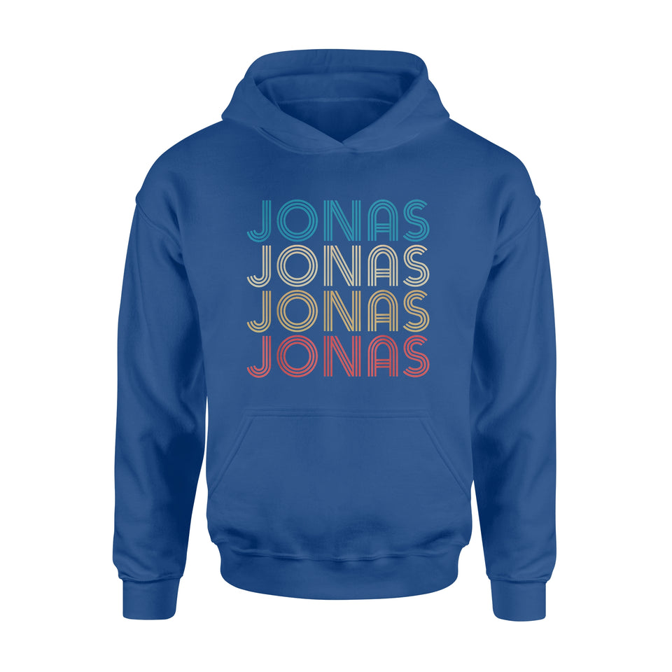 Pride Gift Idea Jonas First Given Name Vintage Distressed - Standard Hoodie