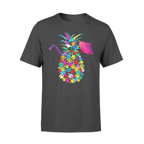 Dog gift idea Paw Print On Pineapple I Love Paw Print T-Shirt - Standard T-shirt
