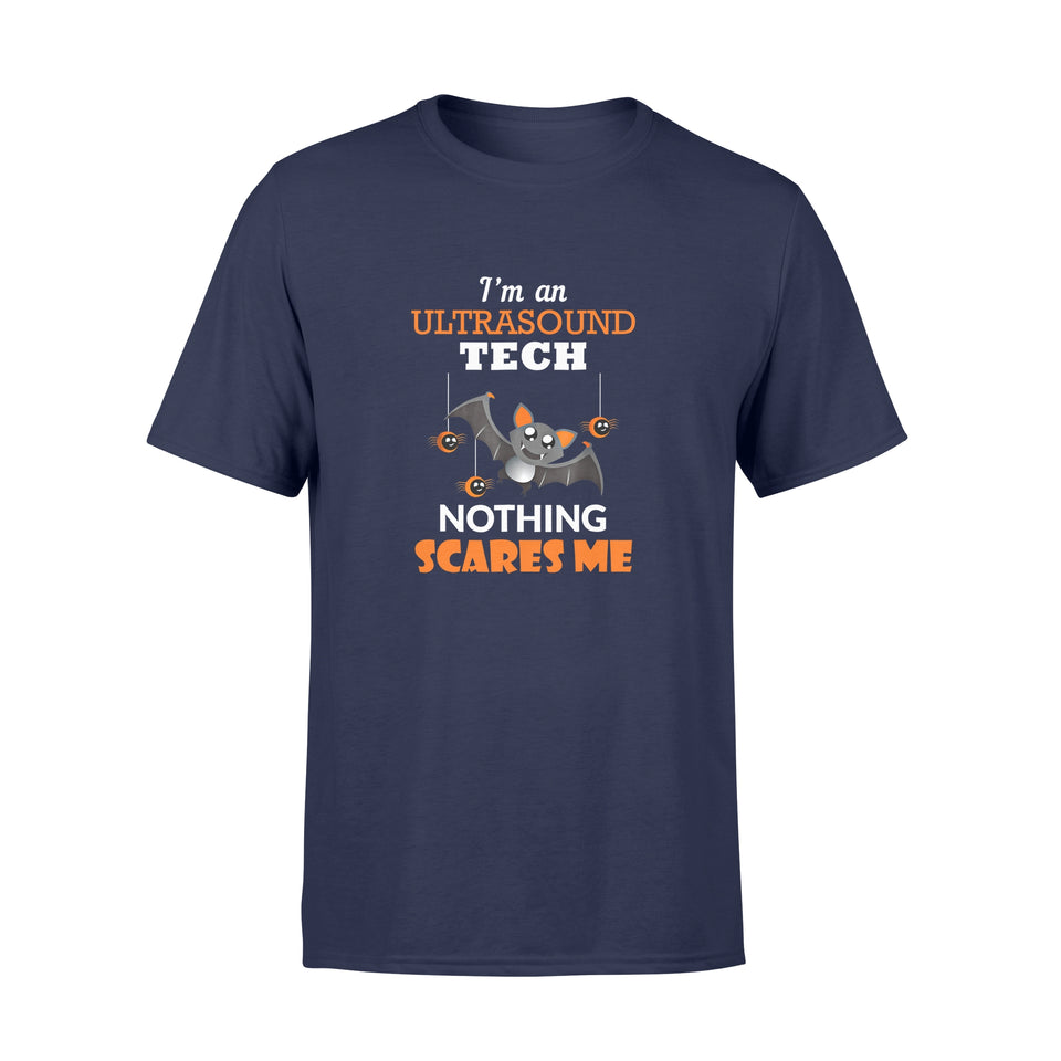 Halloween Gift Ideas Ultrasound Tech Shirt | Nothing Scares Me - Standard T-shirt