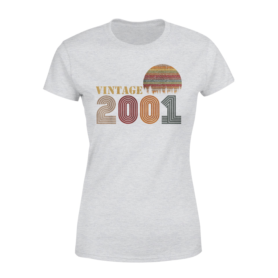 Birthday Gift Idea - 2001 Vintage Retro - Premium Women's T-shirt