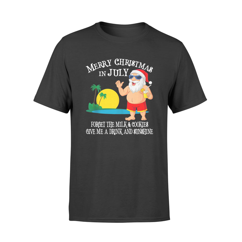Christmas In July Pool Party Santa Vacation Shirt - Standard T-shirt