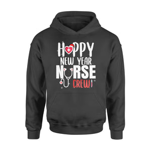 Nurse gift idea Happy New Year Crew Santa's Favorite - Standard Hoodie