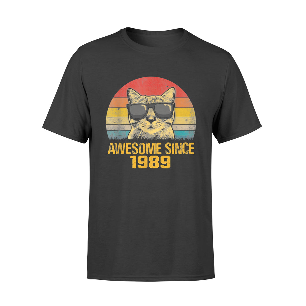 Awesome Since 1989 30th Birthday Gift Cat Lover - Standard T-shirt