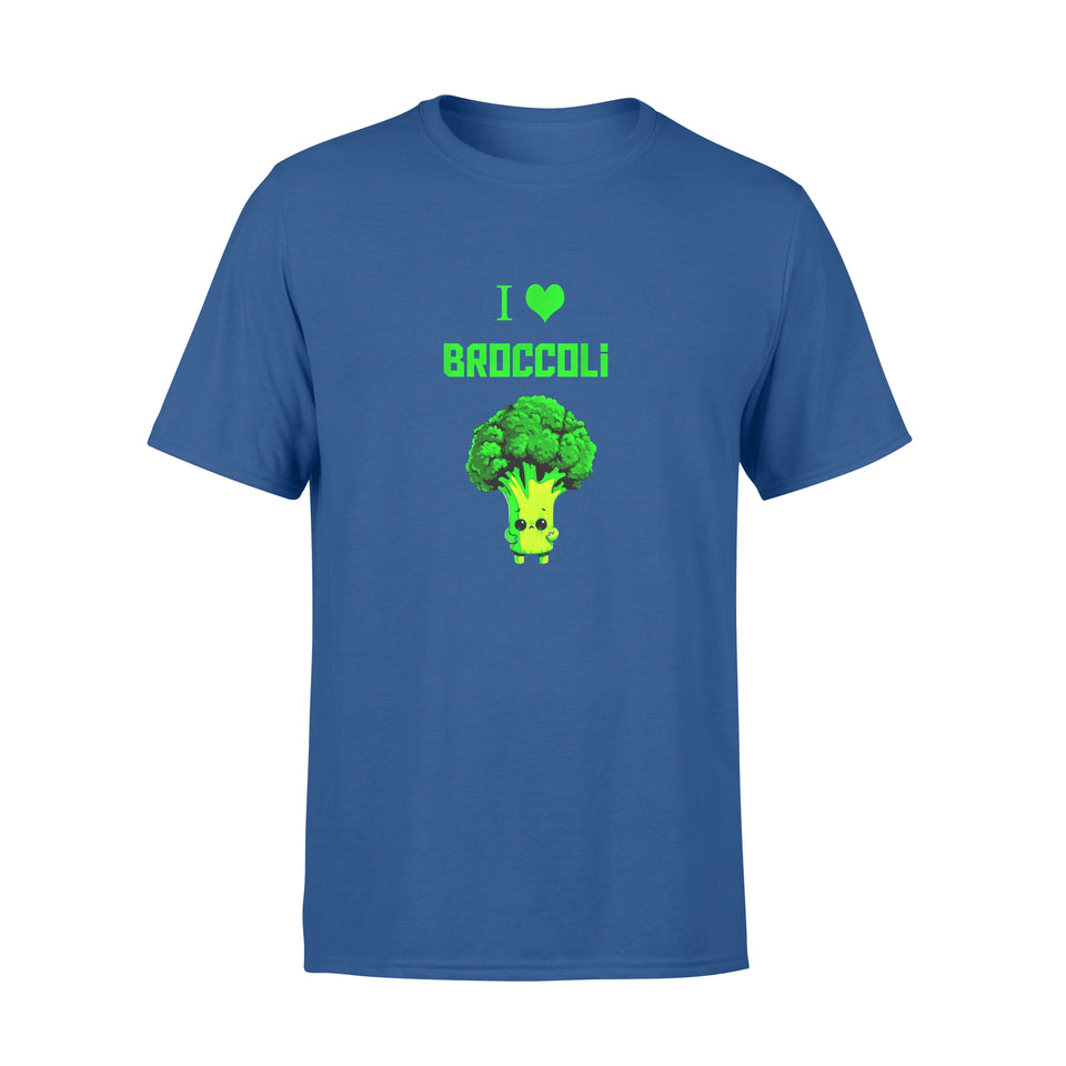 Fun Gift Idea Funny Cute I Love Broccoli cool Vegan Veggie Lover Gift - Standard T-shirt