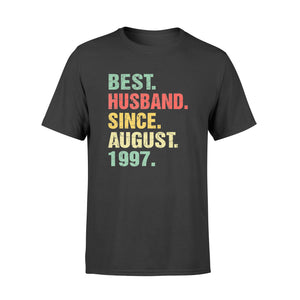 Wedding Anniversary - Best Husband Since August 1997 - Premium T-shirt