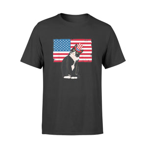 Tuxedo Cat 4th Of July Hat Patriotic - Standard T-shirt