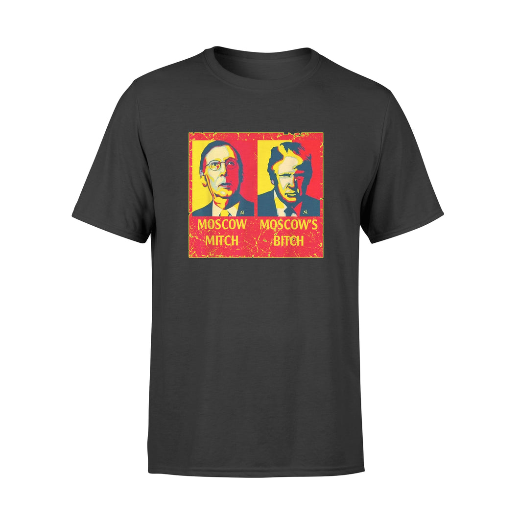 Moscow Mitch Moscow's Bitch Mitch And Trump Traitors - Premium T-shirt