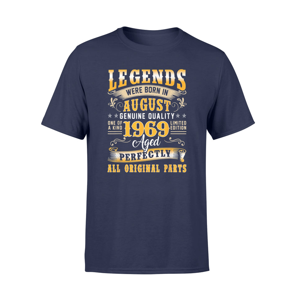 Birthday Gifts Legend Born August 1969 - Standard T-shirt