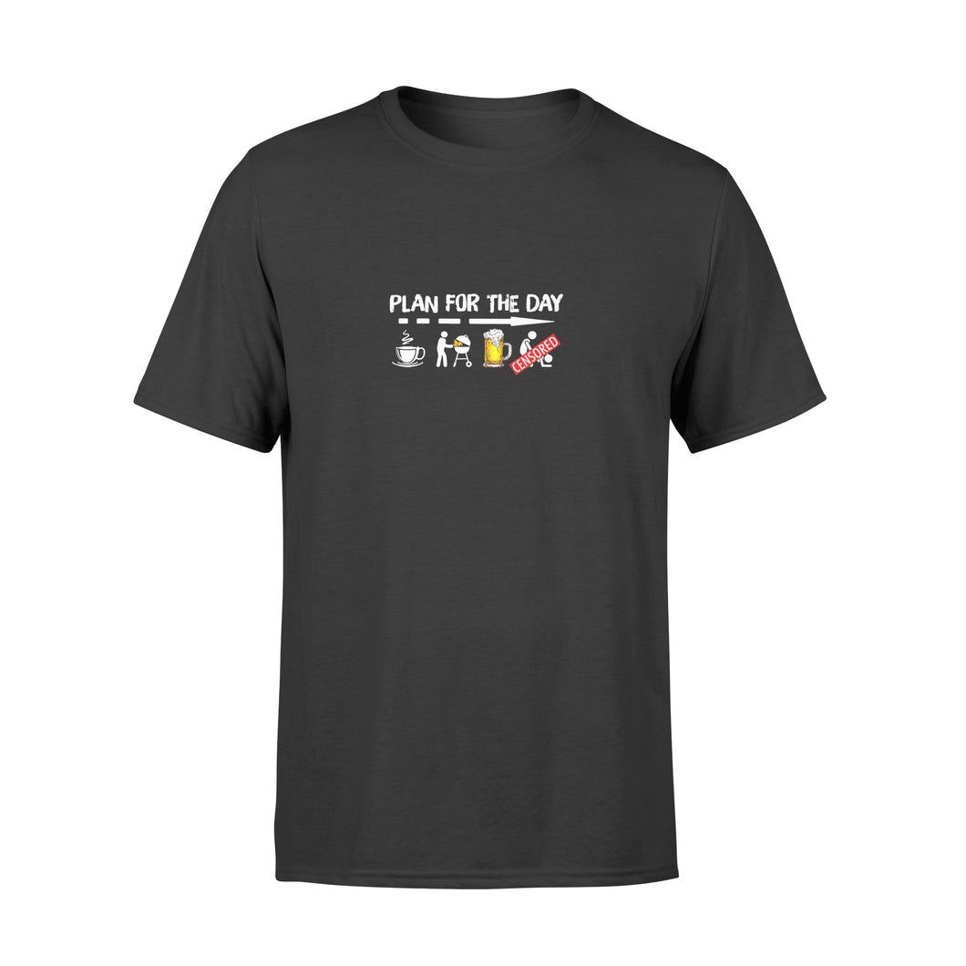 Plan For The Day Shirt Coffee Bbq Grilling Beer Sex - Premium T-shirt