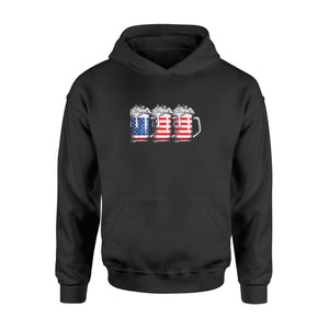 4th of July Shirts for Men Beer American Flag Shirt - Standard Hoodie