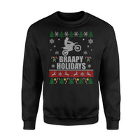 Christmas Gift Idea - Braapy Holidays Motocross - Standard Fleece Sweatshirt