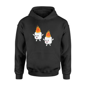 Funny Camping Marshmallow Shirts Gift Summer Camp - Standard Hoodie